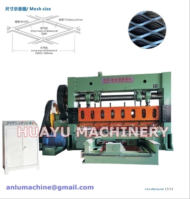 China Heavy-duty Expanded Metal Mesh Machine for Basketry Mesh Making supplier