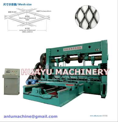 China Heavy-duty Expanded Metal Mesh Machine Mesh thickness up to 8mm supplier
