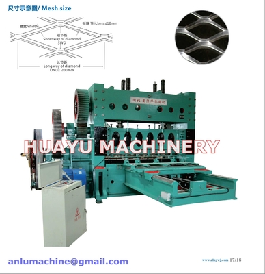 China Heavy-duty Expanded Metal Mesh Machine supplier