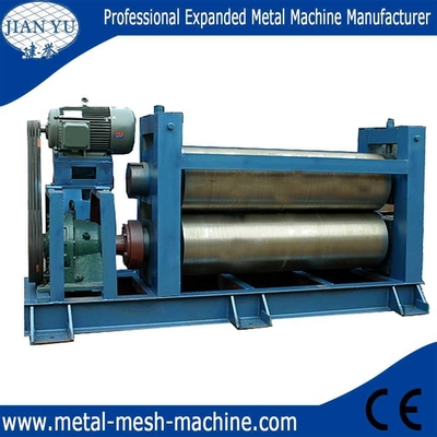 China Expanded metal mesh flattening machine supplier