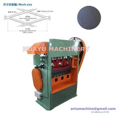 JQ25-6.3 High Speed Expanded Metal Mesh Machine